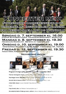 Invitation Unge Spiller Klassisk koncerter 2014 med programpunkter mail tilrettet pr. 26.08.14